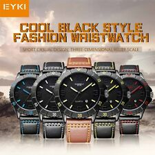 EYKI  Men Leisure Fashion Quartz  Analog Wristwatch PU Leather Business  Watch