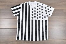 GIVENCHY 599$ Authentic White Cotton Colombian Stars & Stripes Print Tshirt XS