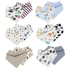 Bundle Monster Boys & Girls 12pc Various Design Baby Bandana Bibs With Snaps