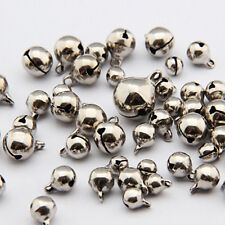 50 Small Jingle Bells Copper Metal  Festival Jewelry Pendants Christmas Decor QW