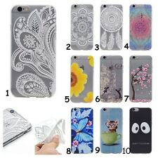 New Floral Soft TPU Back Case Gel Clear Cover Skin For iPhone/Huawei/LG/Lenovo