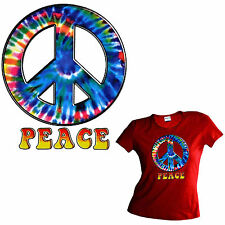 Peace 70er Batik Hippie Ladies Girl T-Shirt 3199 red