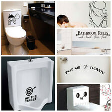 Quality Bathroom Toilet Decoration Seat Art Wall Stickers Decal Home Decor QWC