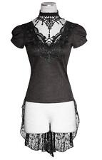 Punk Rave Tunic Top Short sleeve Ladies T-Shirt with lace Visual Kei Gothic