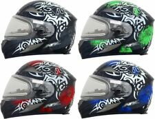 AFX FX-90SE FX90 SE Danger Snowmobile Helmet with Electric Heated Shield