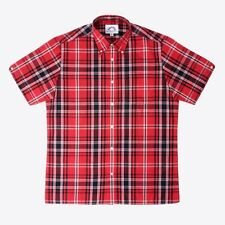 Brutus 4401-539 MENS Greatfit Button Down Short Sleeve Shirt Heritage Red