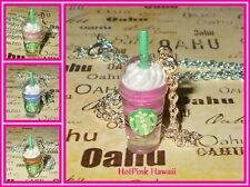 Starbucks Frappuccino Coffee Ice Blended Smoothie Kawaii Silver Plated Necklaces