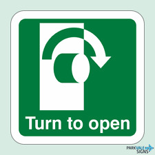 Turn To Open Sign (Clockwise)