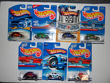 MOC Hot Wheels Lot Of 7 VOLKSWAGEN VW Beetle BUG Toy Diecast All Different
