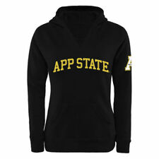 Appalachian State Mountaineers Women's Black Chain V-Notch Pullover Hoodie