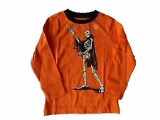 NWT Boy's Gymboree Halloween skeleton orange long sleeve shirt ~ 5 7 8 10