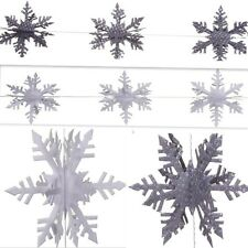 East Of India - 3D Snowflake Paper Garland - Christmas Sparkle Decoration