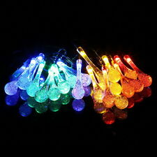 LED Solar Water Drop String Light For Christmas Party Garden Tree Decorative UK