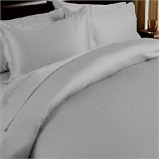 SILVER GREY SOLID BED SHEET SET 800 TC 100% EGYPTIAN COTTON SELECT YOUR SIZE