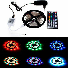 New Waterpfoor 5M 3528 RGB 300 LED Strip Light + 2A Adapter + 44 Key Remote