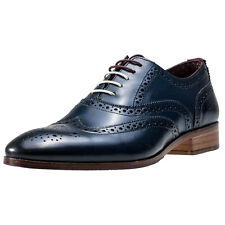 London Brogues Wister Oxford Mens Brogues Navy New Shoes