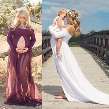 Maternity Photography Props Cotton Maternity Maxi Gown Sexy Maternity dress