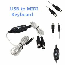 New USB to Midi Interface Piano Music Keyboard Cable Adapter Converter for PC MR