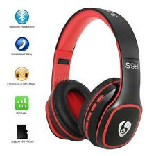 Wireless Bluetooth Stereo Headphone Foldable Headset MP3 Player FM TF w/Mic D4A2