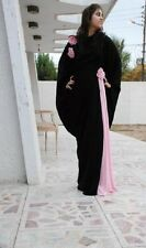2016 Abaya Beautiful Pink frill, Flower & Diamond brouchHijab, Abaya Frasha Hija