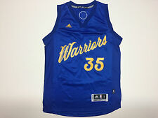 Kevin Durant 35 Golden State Warriors Adidas Swingman Christmas Day Blue Jersey