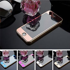 Full Screen Cover Tempered Glass Screen Protector+Silicone case For iPhone 5 6 +