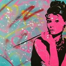 CANVAS Audrey Hepburn Girly Splash Gallery Wrapped Art by Pop Art Queen