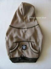 NEW DOG Pet Clothes Thermal Sweatshirt Hoodie Taupe XS-XXL 4-95lbs