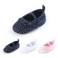 Newborn Kids Lace Princess Toddler Baby Girl Soft Cotton Shoes Prewalker 0-18M