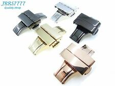 20mm Stainless Steel Butterfly Deployment multicolored Watch Strap buckle new