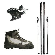 New Whitewoods 75mm 3Pin Cross Country Package Skis Boots Bindings Poles 197cm