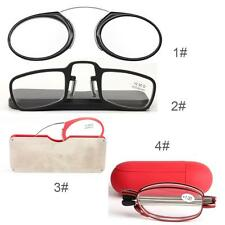 Fashion Clip On Reading Glasses Older Mirror Nose Clip Mini Small Eyeglasses