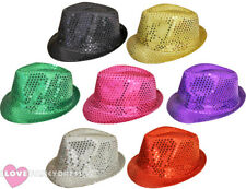 SEQUIN TRILBY HAT FEDORA DANCE THEATRE SHOW FANCY DRESS PARTY HEN STAG NIGHT