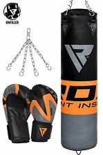 RDX Leather Punching Bag UnFilled Boxing Bag Gloves MMA Training Kicking  CA