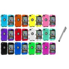 DELUXE COLOR BLACK CASE FOR IPOD TOUCH 4 4G 4TH GEN+PROTECTOR+METAL PEN