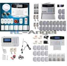 GSM PSTN LCD Display Voice Wireless Home Alarm Security Burglar System SMS Call