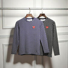 Comme Des Garcons Play Polka Dot Style Small Red Heart Unisex T-shirt 4 Sizes