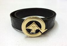 (FREE SHIPPING) New LIFTED RESEARCH GROUP (L-R-G) BLACK LEATHER BELT WITH BUCKLE