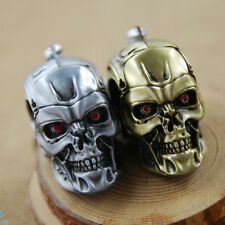 Cool Men's Gold Silver Plated Keychain Skull Shape Cool Pendant Keyring Creative