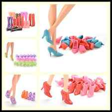 Multiple Choice Mix Shoes Boots for Barbie Doll Girls Play House Gift QWC