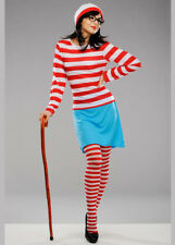 Womens Wheres Wally Wenda Fancy Dress Costume