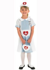 Childrens Blue Nurse Fancy Dress Costume