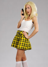 Yellow Pleated School Girl Skirt
