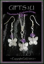 * NATURE *: Butterfly Necklace - 💜 Birthday  Gift Daughter Girl Nanny MUM Aunt