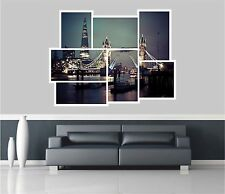 Huge Collage View Tower Bridge Of London Wall Stickers Wallpaper Mural 874