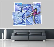 Huge Collage View Childrens Fairytale Snowman Wall Stickers Mural 1061