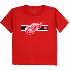 Old Time Hockey Detroit Red Wings Preschool Red Striped Logo T-Shirt - NHL