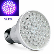 Bright E27 UV Ultraviolet Color Purple Light 50 LED Lamp Bulb For Indoor Plant