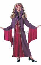 Kids Gothic Medieval Princess Girls Book Week Fancy Dress Costume Party Outfit
