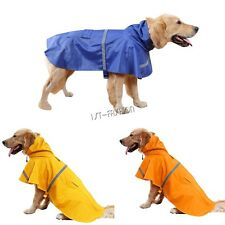 Dog Rain Coat Pet Jacket Puppy Clothes Waterproof Coat Poncho Hooded Raincoat